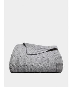Oshin Cashmere Cable Knit Blanket - Mist