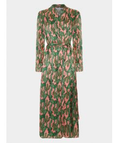 Silk Dressing Gown - Pink Cactus Angelica