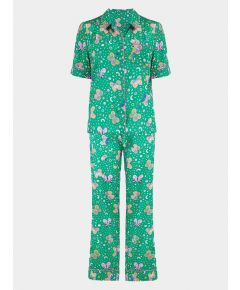 Women's Poppy Rainforest Butterfly Silk Pyjama Trouser Set - Set/Separate