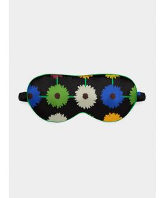 Silk Eye Mask - Multi Bloom Dark