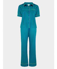 Women's Poppy Rainforest Caterpillar Stripe Silk Pyjama Trouser - Set/Separate