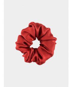 Silk Scrunchie - Red Rose