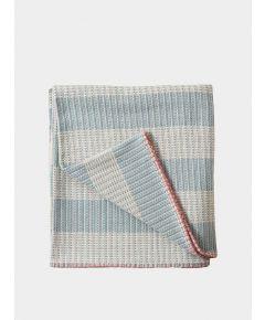 Merino Wool Large Blanket - Sali Blue