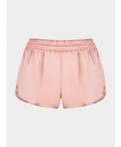 Silk Ringer Shorts - Shell Pink