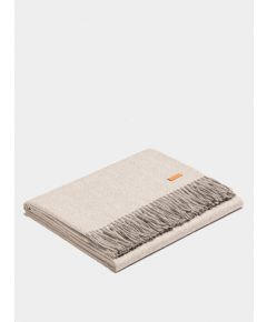 Plaid Exclusive Fishbone Blanket - White-Silver