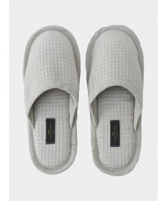 Linen Waffle Bath Unisex Slippers - Natural