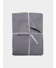 Stonewashed Linen Flat Sheet – Steel Grey