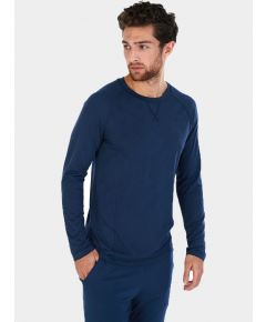 Mens Nattwell® Sleep Tech Long Sleeve Top - Midnight Blue