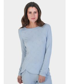 Women's Nattwell® Sleep Tech Long Sleeve Top - Ice Blue