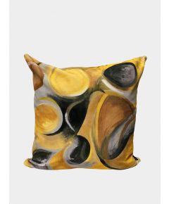 Velvet Cushion - Strata Ochre