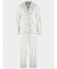 Organic Cotton Pyjama Trouser Set - Botanical Off White