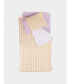Organic Cotton Single Duvet Set – lilac Butterfly/Yellow Dragonfly