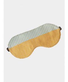 Silk Sleep Eye Mask - Mint Yellow