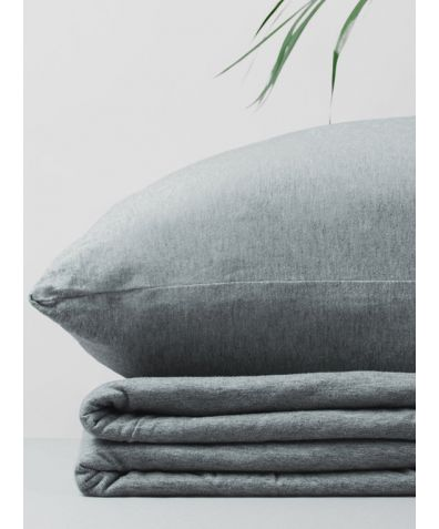 Organic Cotton Jersey Fitted Sheet - Grey Melange