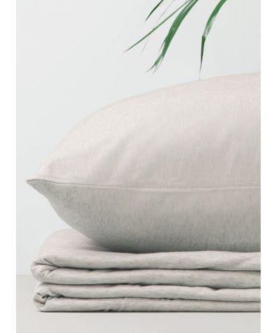 Organic Cotton Jersey Pillowcases (Pair) - Beige Melange