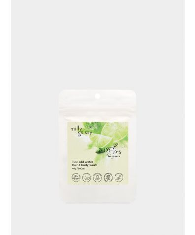 Zero Wash Hair & Body Wash, 40g  - Zesty Lime