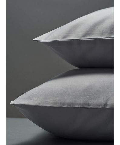 300 Thread Count Egyptian Cotton Sateen Pillowcase - Light Grey