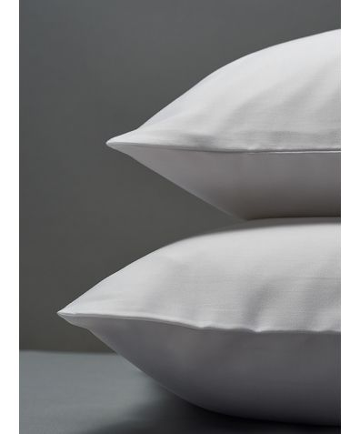300 Thread Count Egyptian Cotton Percale Pillowcase - White