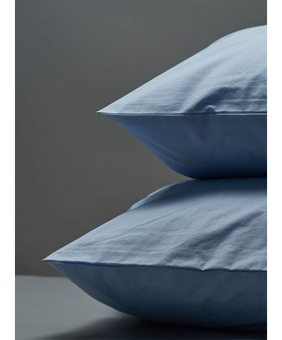 300 Thread Count Egyptian Cotton Percale Pillowcase - Light Blue