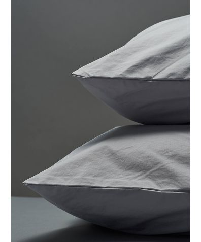 300 Thread Count Egyptian Cotton Percale Pillowcase - Light Grey