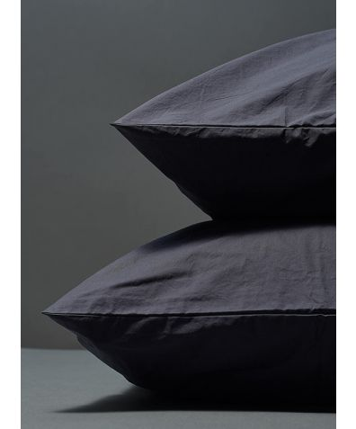 300 Thread Count Egyptian Cotton Percale Pillowcase - Dark Grey