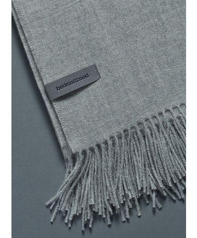 Alpaca Throw (Twill Weave) - Light Grey