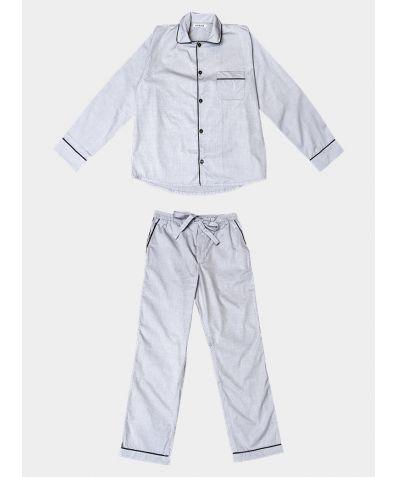 Mens Cotton Pyjama Trouser Set - Classic Grey