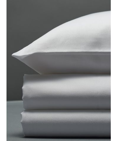 300 Thread Count Egyptian Cotton Sateen Duvet Set - White