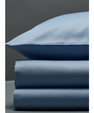 300 Thread Count Egyptian Cotton Sateen Duvet Set - Light Blue