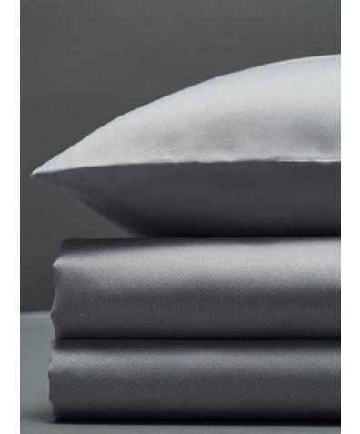 300 Thread Count Egyptian Cotton Sateen Duvet Set - Light Grey