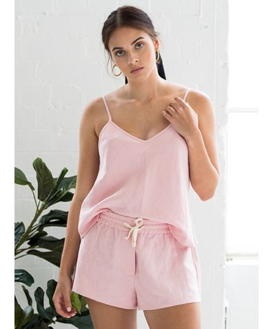 Fleur Dusty Rose Camisole Short Set - Set/Separate
