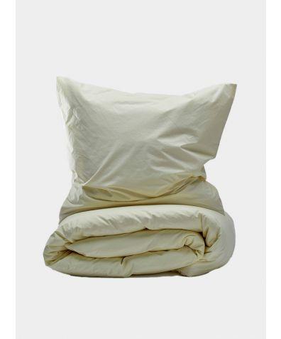 300 Thread Count Egyptian Cotton Percale Duvet Set - Lemonade