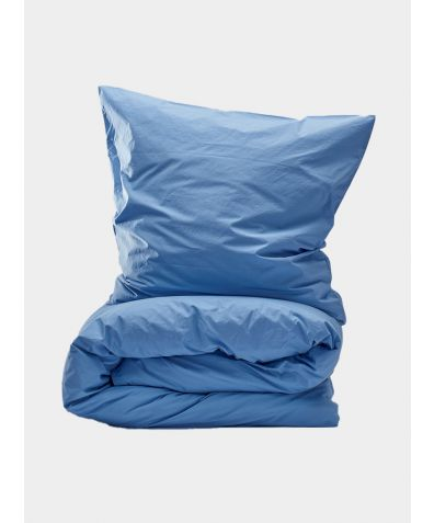 300 Thread Count Egyptian Cotton Percale Duvet Set - Light Blue