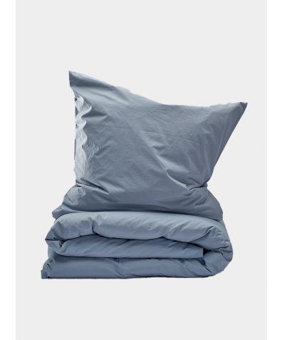 300 Thread Count Egyptian Cotton Percale Duvet Set - Light Grey