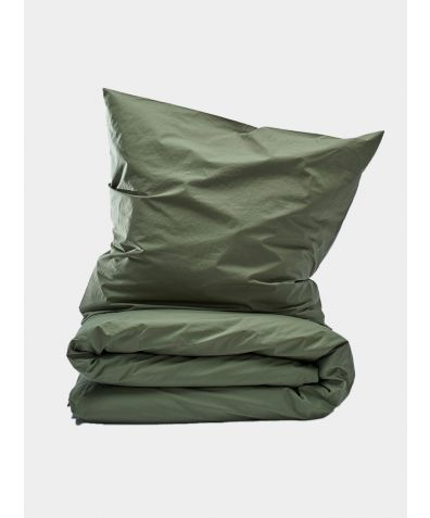 300 Thread Count Egyptian Cotton Percale Duvet Set - Nordic Forest