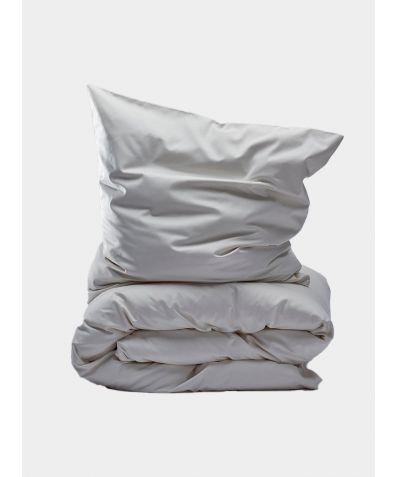 400 Thread Count Egyptian Cotton Sateen Duvet Set - Almond Milk