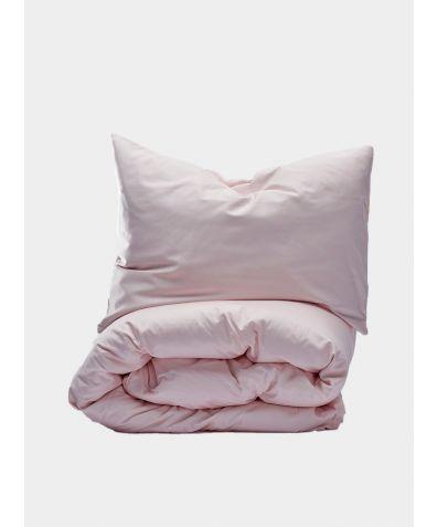 400 Thread Count Egyptian Cotton Sateen Duvet Set - Light Pink