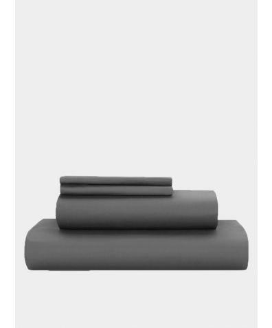 Essential 500 Thread Count Cotton Sateen Duvet Set - Deep Grey