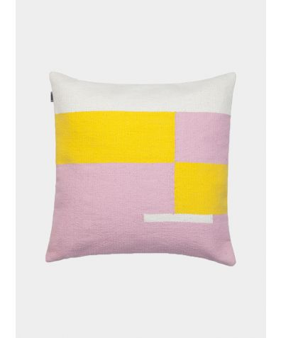 Jama-Khan Handwoven Square Cushion - Pink