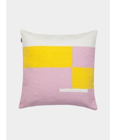 Jama-Khan Hand Woven Cotton Square Cushion - Pink