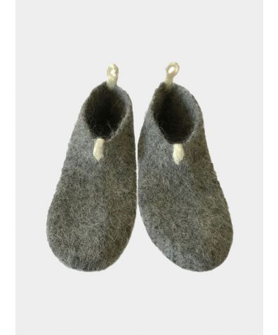 Icelandic Wool Kosy Light Slipper- Socks - Light Grey