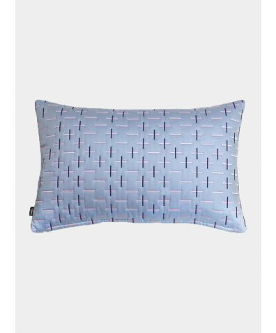 Modern Kantha Cushion - Powder Blue