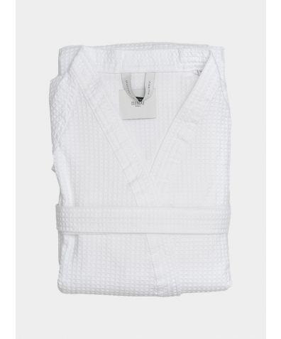 Agrippa Organic Cotton Bathrobe - White