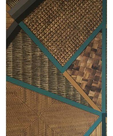 Geometric Wicker Wallpaper