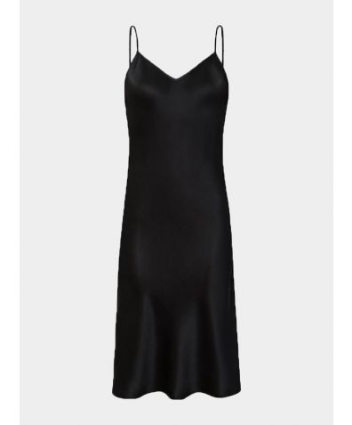 Dita Silk Nightdress - Black