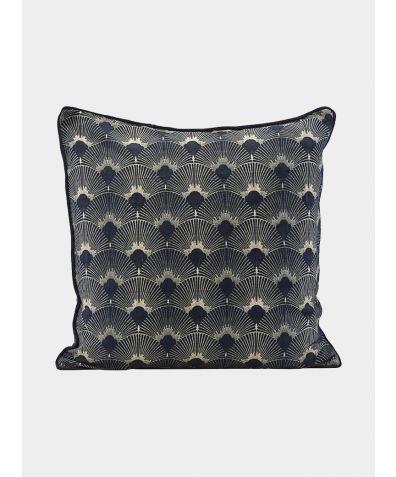 Ananda Cotton & Linen Cushion Cover - Dark Blue