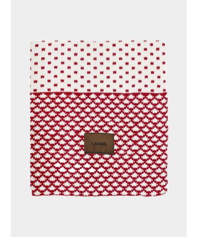 Wool Blanket - Red White Multiprint