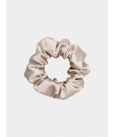 Silk Scrunchie - Almond