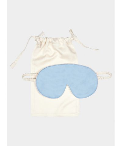 Mulberry Silk Sleep Mask & Bag - Andaman Blue
