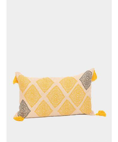 Hand Block Printed Cushion - Anika